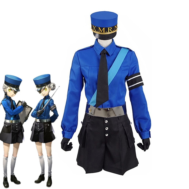 Persona 5 Twin Guardas Prisionais Caroline e Justine Cosplay Unisex Adulto Trajes de Halloween Carnaval Uniforme Custom Made