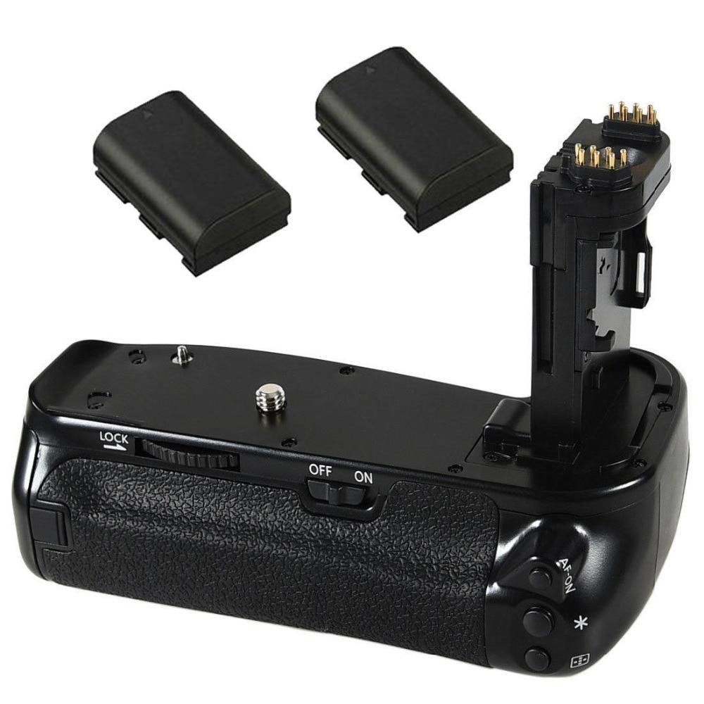 JINTU Pro вертикальный держатель затвора батареи + 2 шт. LP-E6 набор батарей для Canon EOS 6DII 6D Mark II DSLR камеры как BG-E21