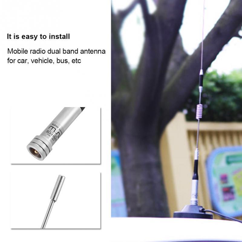 Ganho duplo da frequência ultraelevada/vhf 144/430mhz 100w da antena de rádio móvel para o veículo do carro