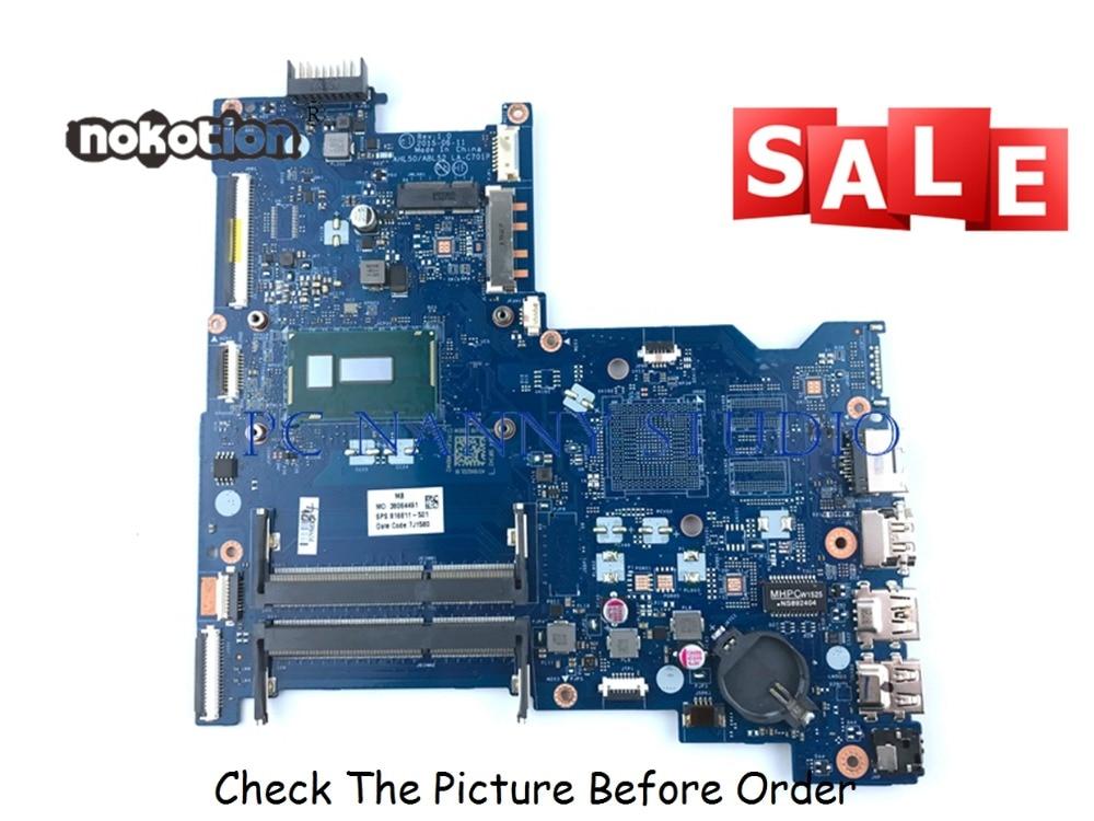 PCNANNY 816811-601 816811-001 لإتش بي 15-AC اللوحة المحمول AHL50/ABL52 LA-C701P i3-5010U 2.1Ghz اختبار