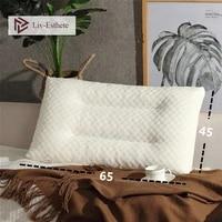 liv esthete 1pcs hot sale 100 natural latex pillow neck protect vertebrae health sleep soft pillow for side sleeper wholesale