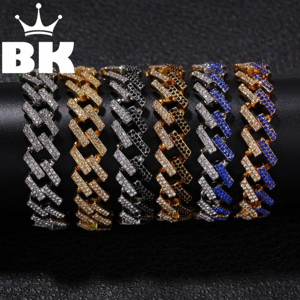 Женский и мужской браслет в стиле хип-хоп, двойной браслет из сплава золотого, Серебряного и красного цвета со стразами