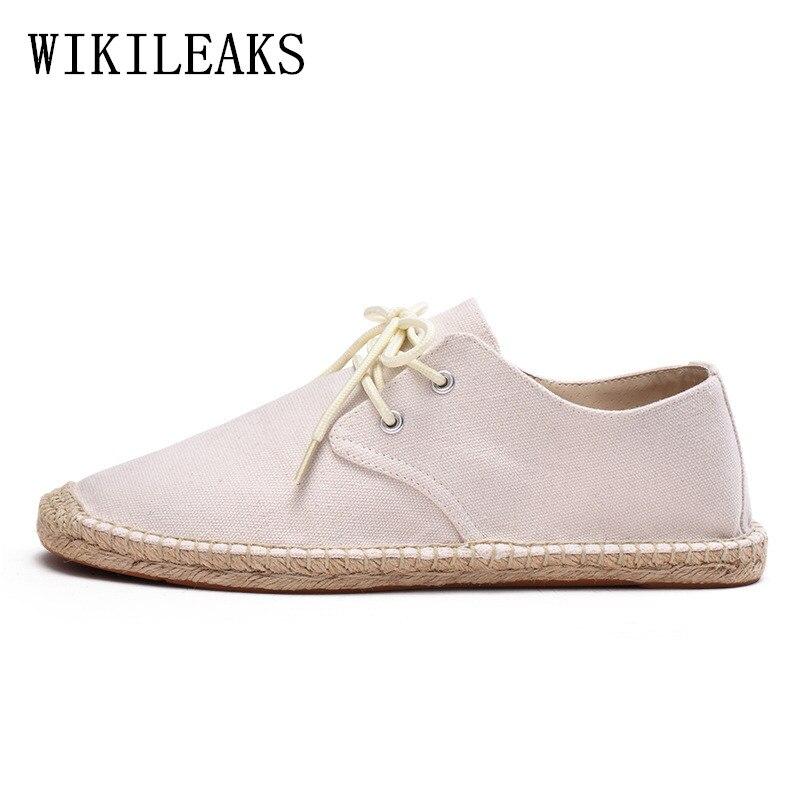 Sapatos de grife homem cânhamo alpercatas masculino tenis feminino sapatos casuais homem branco preto respirável sapatos