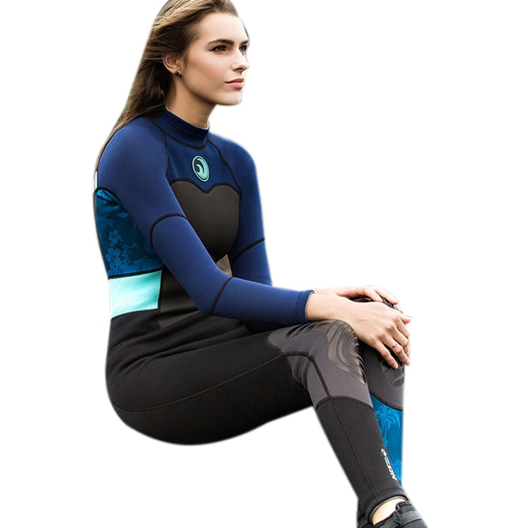 HISEA 1.5mm Neoprene Wetsuits Women Bodysuits Slim Scuba Diving Snorkeling Swimsuit One Pieces Anti-UV Full body Surfing Wetsu