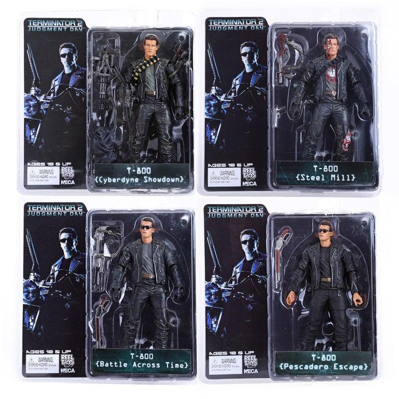 Figura de acción de PVC NECA The Terminator T-800 T-1000 endoesqueleto juguete de modelos coleccionables