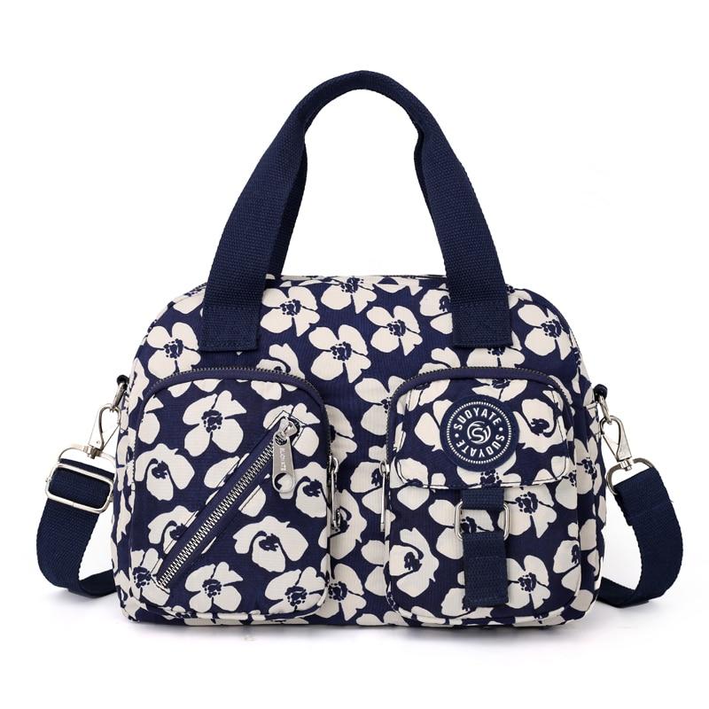 2020 High Quality Women Shoulder Bag Lady Printing Handbag Tote Purse Nylon Casual Messenger Bags Shopping Beach 13 colors