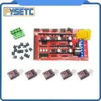 CNC 3D Printer Kit RAMPS 1.4 Controller Control Panel for Arduino Mega Devlepment Board+ 5x DRV8825 Stepper Motor Driver Module