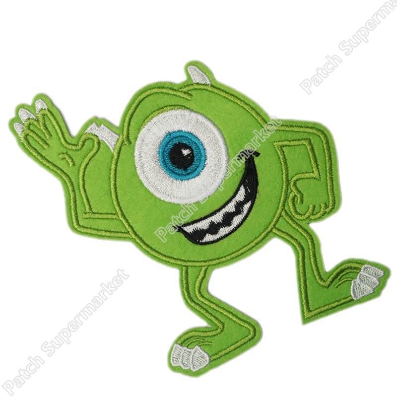 """5,5 """"monstruos grandes Mike suministros de fiesta del Día de los niños Applique película TV película Halloween lindo parche insignia bordado de dibujos animados"""