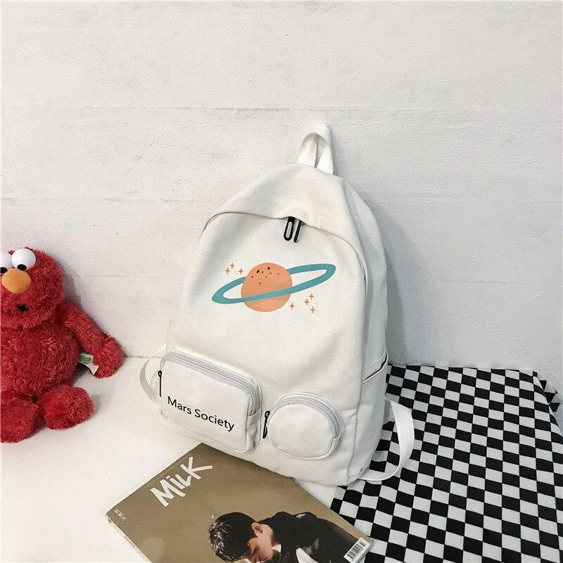 Shoulder bag female 2019 new Korean cartoon junior high school students bag color bags