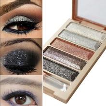 ISHOWTIENDA New 5 Color Glitter Eyeshadow Makeup Eye Shadow Palette Dropshipping naked beauty glazed sombra makeup pallete