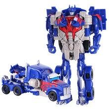 Dzieci zabawka robot transformacji serii Anime figurka zabawka 2 rozmiar samochód robot z tworzywa sztucznego ABS Model figurka zabawka dla dziecka
