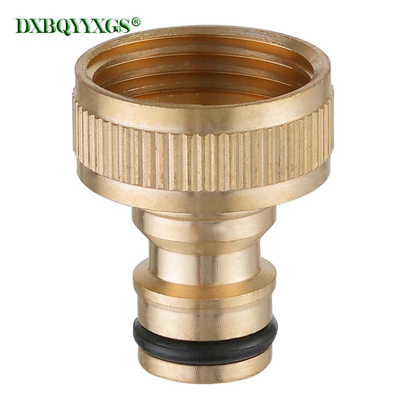 Conector de rosca hembra de 3/4 pulgadas, manguera para jardín, grifo de agua, conectores rápidos, accesorios de irrigación de compresión de latón de alta velocidad