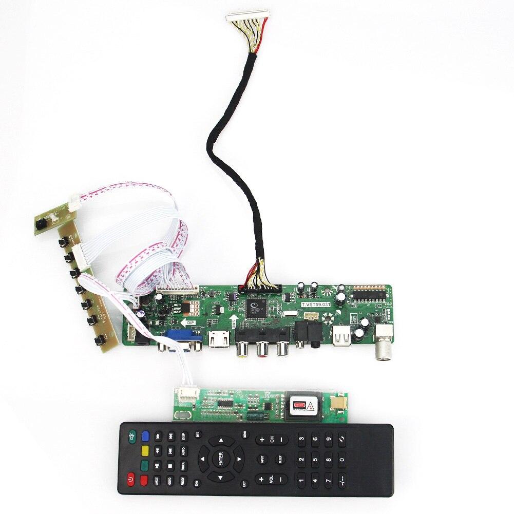 Para B170PW06 V.2 N170C2-L02 T VST59.03 LCD/controlador LED junta (TV + HDMI + VGA + CVBS + USB) LVDS reutilización portátil 1440x900