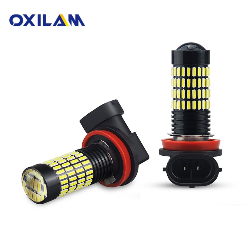 OXILAM 2x H11 H8 H9 9005 HB3 9006 HB4 H10 luz LED antiniebla para coche bombillas 102 Uds 4014 SMD lámpara 6000K 12V blanco