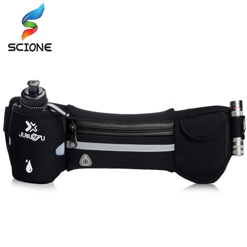 Хит продаж, гидратационный пояс для бега, женская и Мужская спортивная сумка для бега на бедрах, сумка для спортзала, водонепроницаемая поясная сумка для бега в тренажерном зале с бутылкой для воды