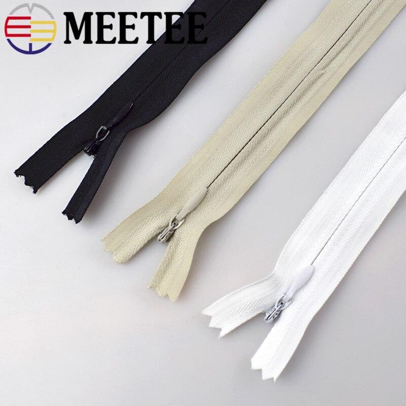 20 piezas Meetee 3 # tela de nailon con cremallera Invisible, funda de almohada DIY, funda de edredón, accesorios de costura textiles para el hogar, A6-2