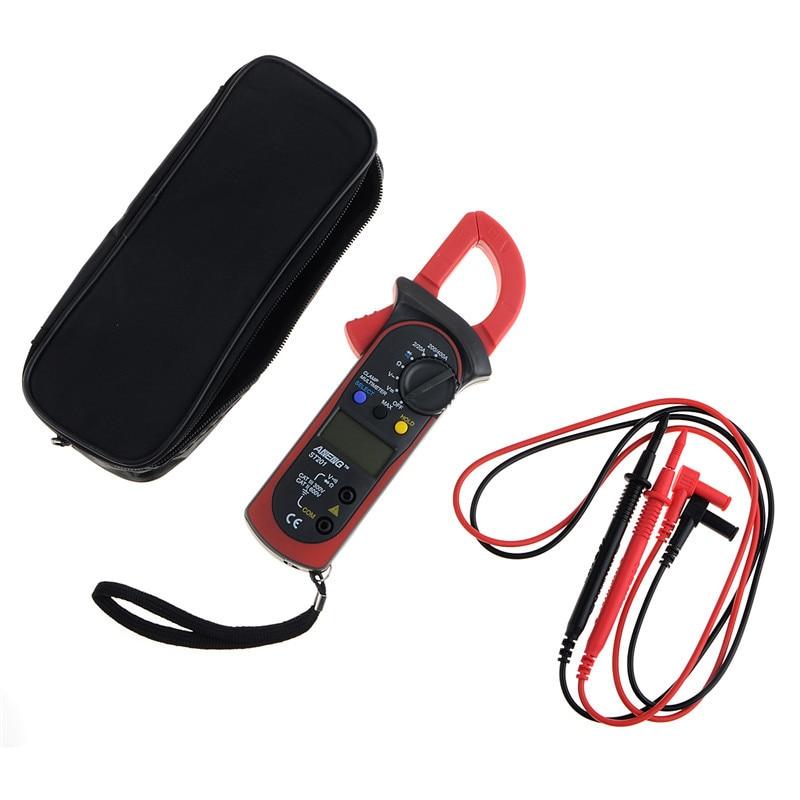 1 Pza multímetro Digital de mano con pinza ST-201 multímetro verdadero RMS LCD multímetro de CA CC voltímetro de CA amperímetro probador de datos VER07 P30