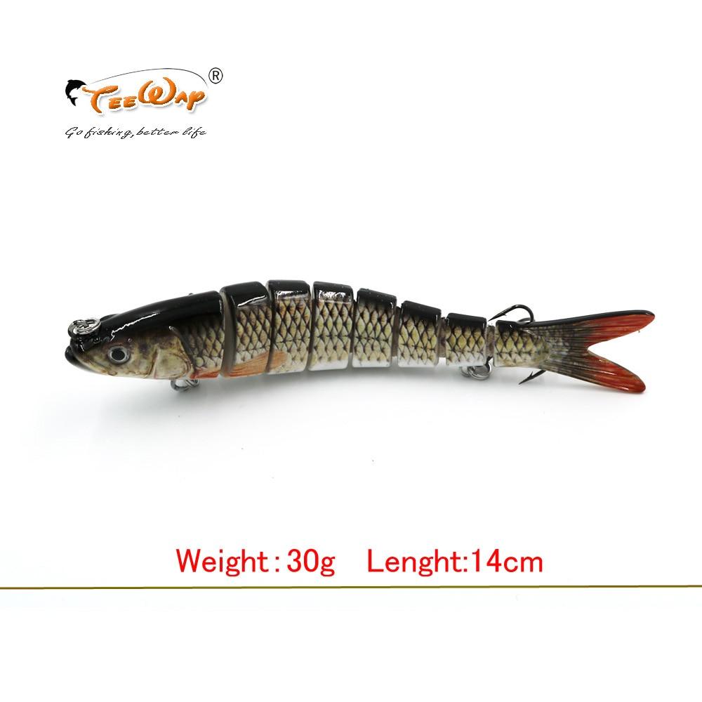 13.7cm 27g טביעת Wobblers 8 מגזרי דיג פתיונות רב מפרקים Swimbait קשיח פיתיון קרס דיג עבור בס Isca Crankbait