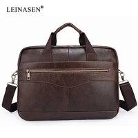 brand men briefcase men genuine leather bag for laptop male crossbody business portfol high quality fashion tote bag