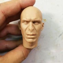 1/6 Voldemort cabeza sin pintar esculpir Cabeza Blanca calva tallado para 12 figuras de acción cuerpos