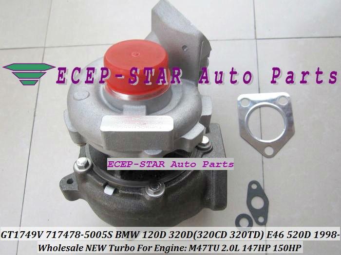 Envío Gratis GT1749V VNT 717478, 717478-5006S 717478-0003 Turbo turbocompresor para BMW 120D 320D 520D X3 E83 2.0L M47TUOL M47TU 2.0L