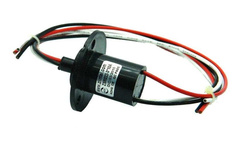 1 unidad OD 22mm 3 canales anillo deslizante 10A junta rotativa cápsula conductora Slipring conector Sliprings para equipos médicos de cámara