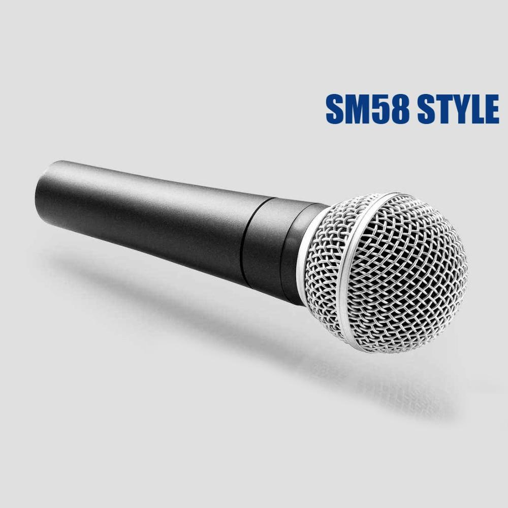 Micrófono de mano clásico con cable, karaoke, canciones, dinámico, sm58lc sm58, sm...