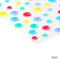 azsg sugar sprinkles self adhesive enamel dots resin sticker for scrapbooking diy crafts card making decoration fl 001