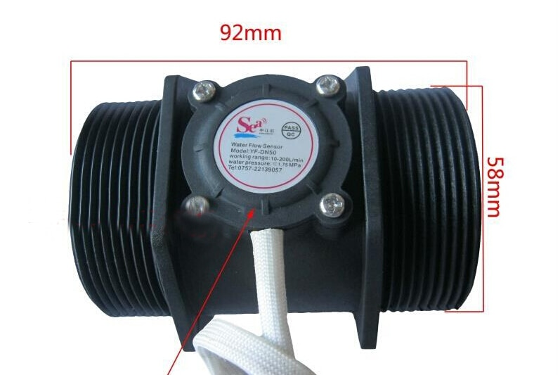 Sensor de Flujo de Agua de 2 pulgadas, caudalímetro Hall, caudalímetro de turbina