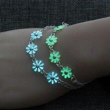 Bracelet pendentif fleurs lumineuses pour femmes joli Punk amant bracelets fête mode femme Bracelet bijoux cadeau lueur dans lobscurité