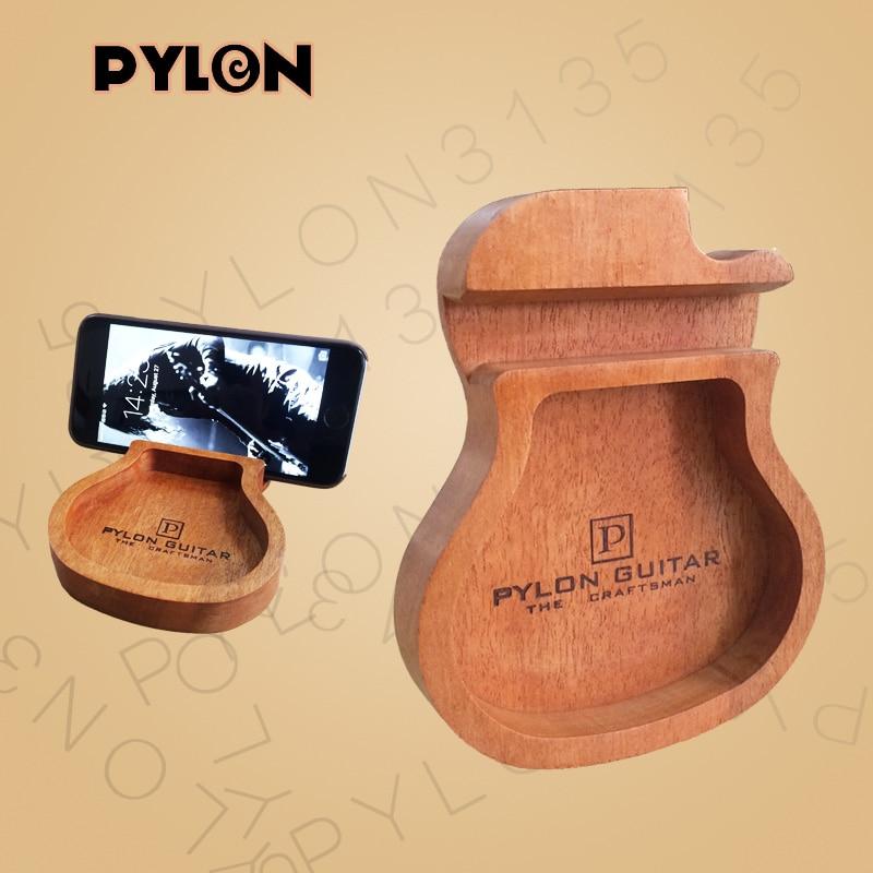 Деревянный держатель для сотового телефона/мобильного телефона в форме гитары пилона