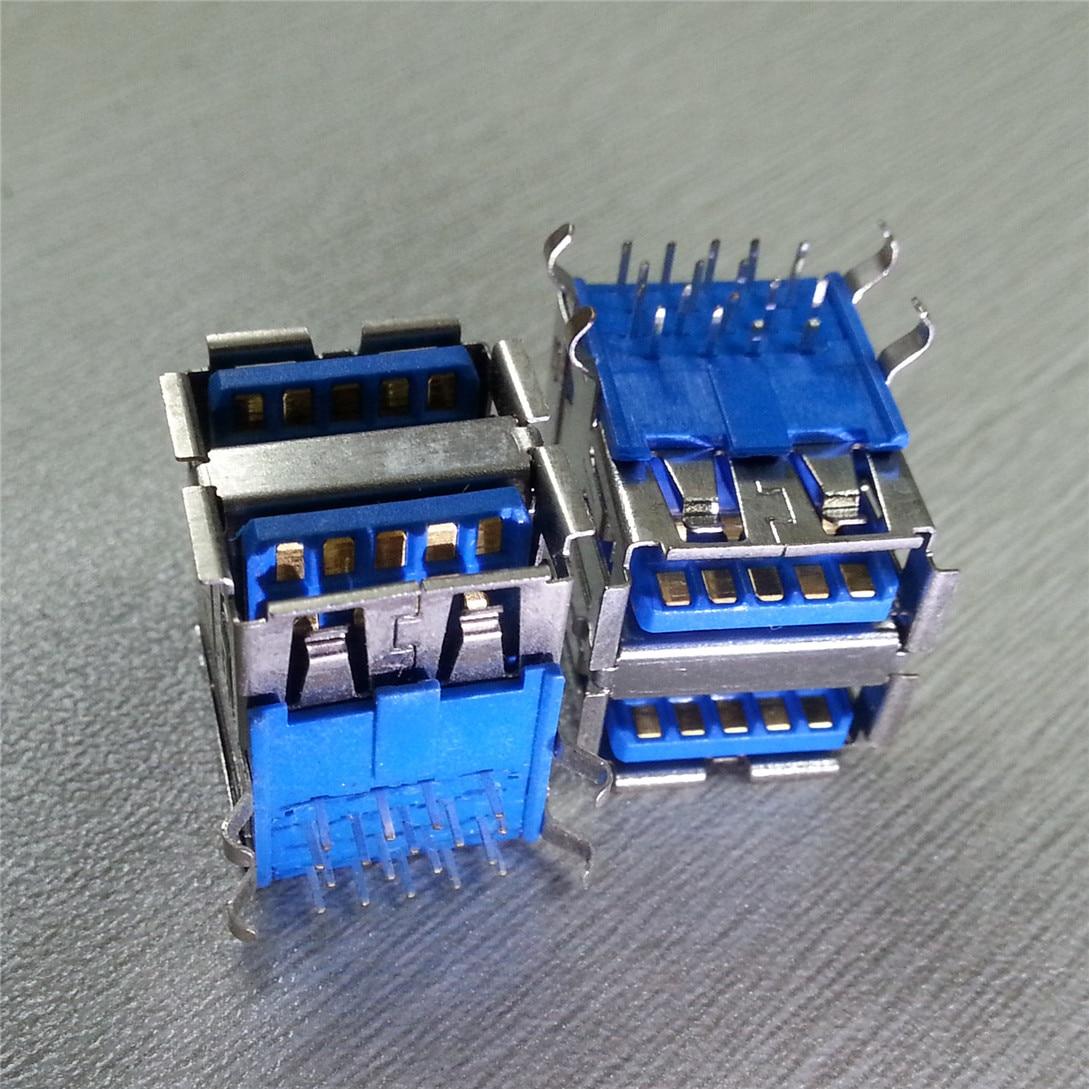 5 sztuk podwójne USB 3.0 wysokiej prędkości transmisji 9pin USB famale złącze wtykowe
