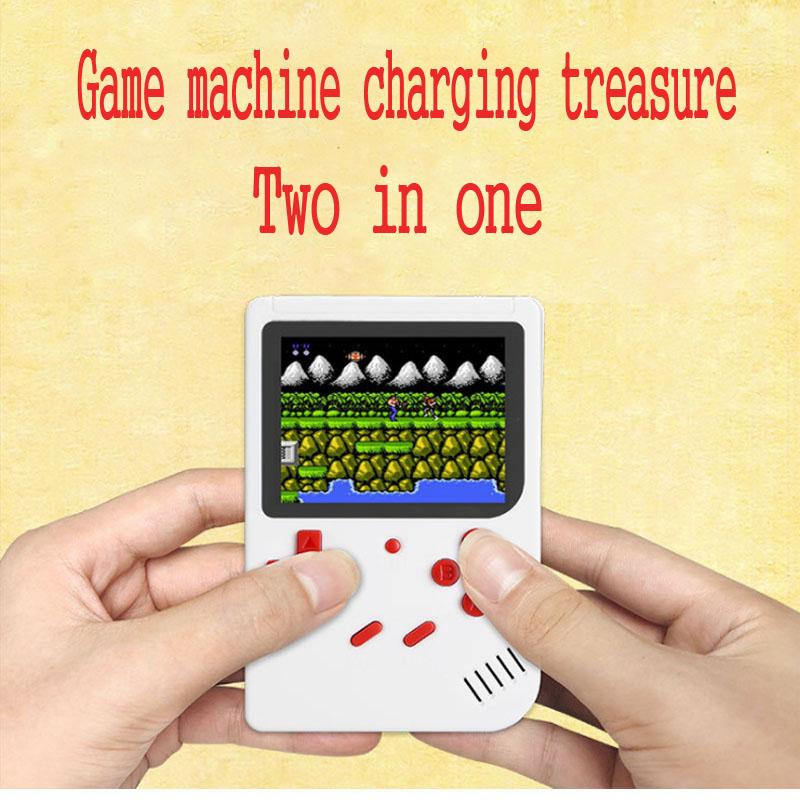 Retro Mini 88FC Nostalgic Game Machine Mobile Power Handheld Game Console Charging Treasure Palm Set 300 Classic Games