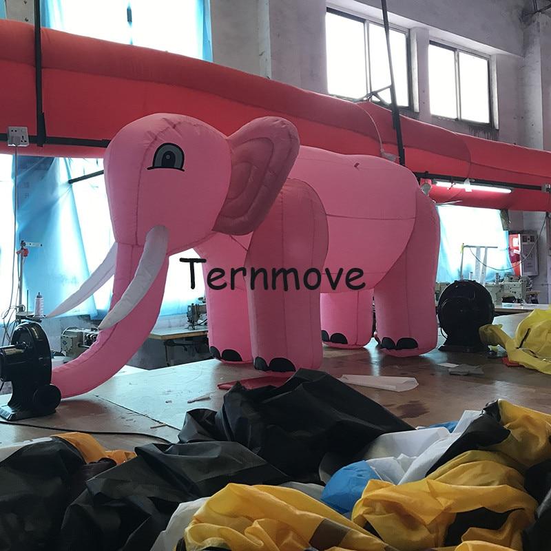 Elefante inflable de dibujos animados, promocional, tipo de dibujos animados, elefante soplado para decoración, juguetes, elefante inflable, réplica de Mascota