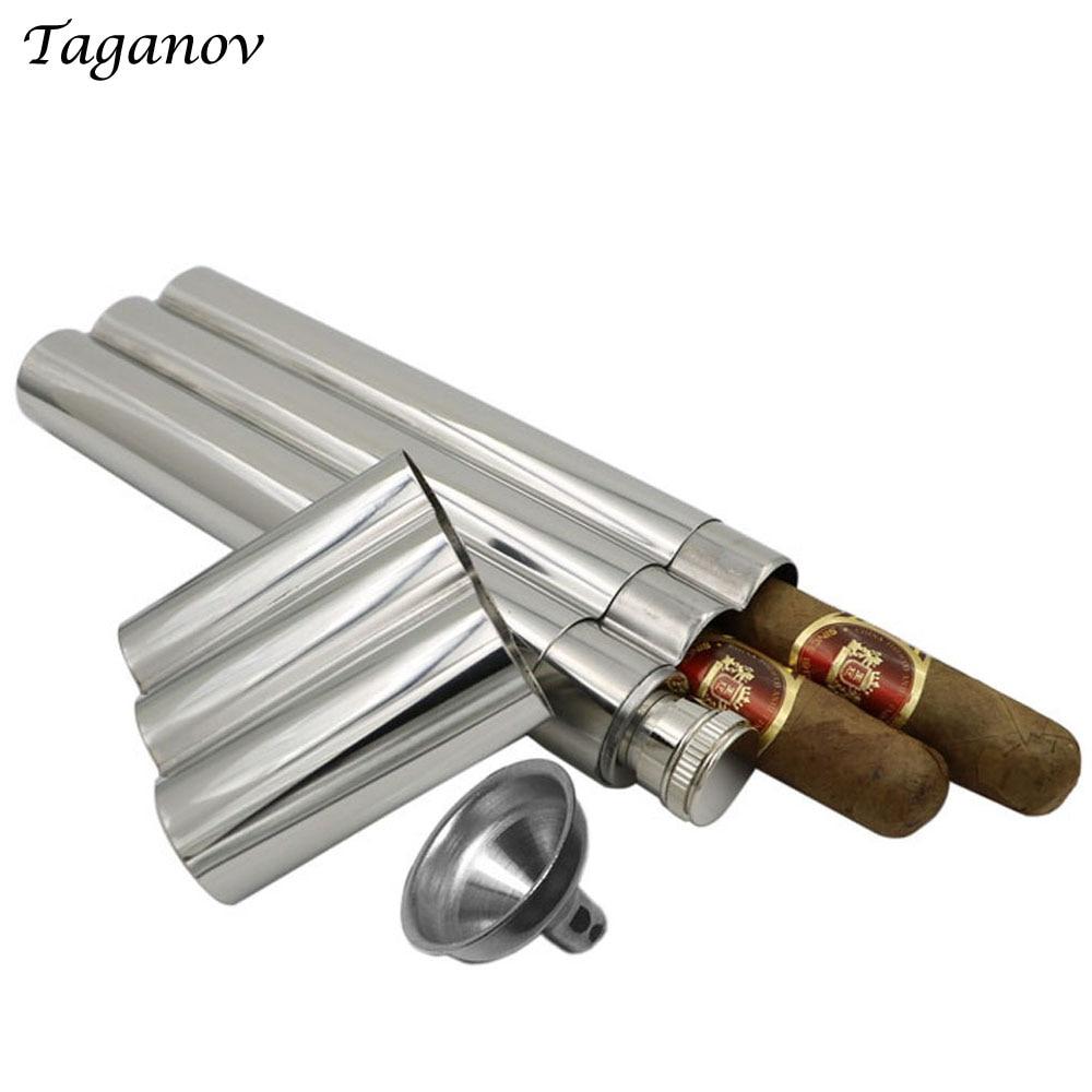 60 мл Enjoy Hip Flask зеркальная полированная с двумя трубками для сигар 2 унции и воронкой класса 304 нержавеющая сталь деловой человек достойный flagon