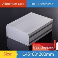 Mini aluminum amplifier chassis/Power Controller/GPS instrumentation shell/ AMP Enclosure / case / DIY box (145*68*200mm)