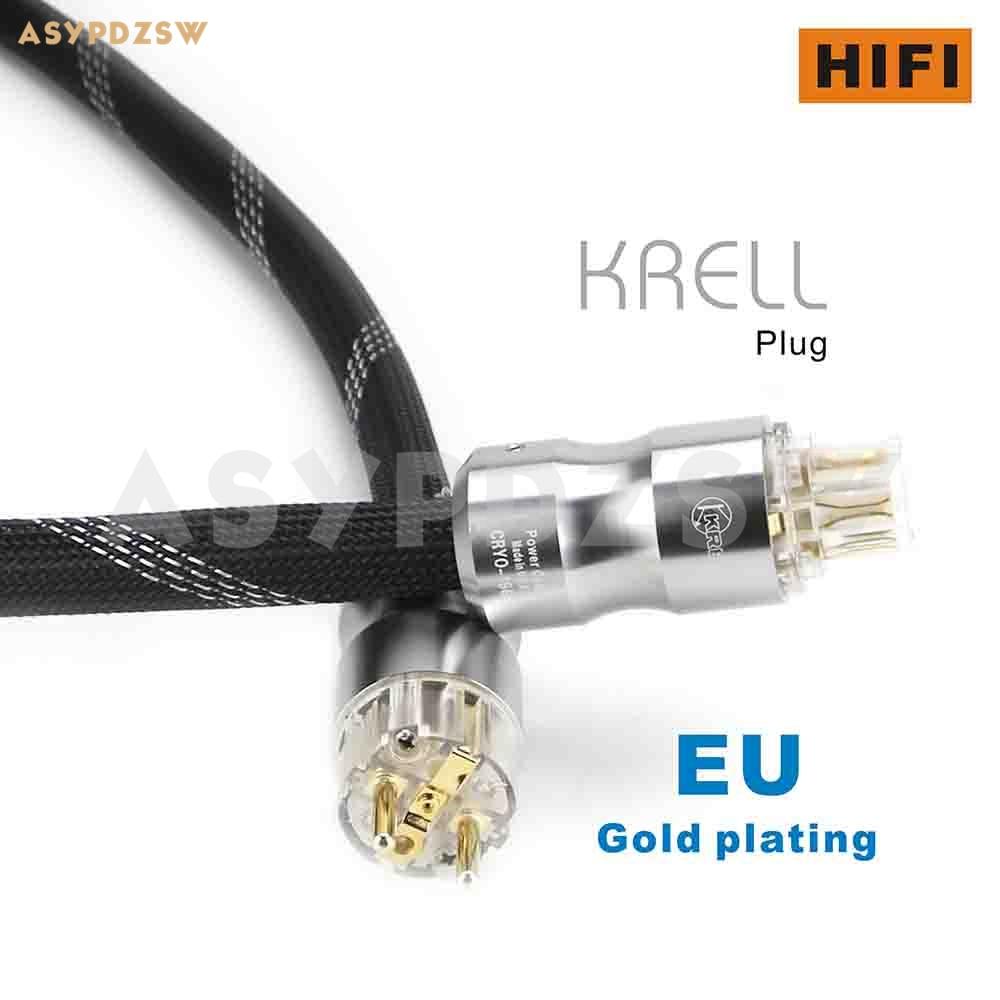 1,5 M Audio HIFI FURUKAWA OFC de cobre puro AC Cable de alimentación con chapado en oro KRELL schuko EU plug