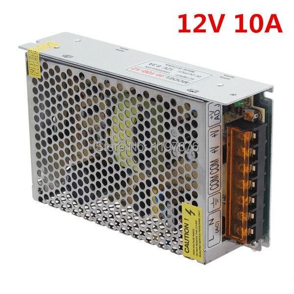 12V 10A LED Driver for LED Strip Input 90-240V Output 12V 120W LED Power Supply LED Transformer 10pcs/lot Fedex/DHL Free Ship