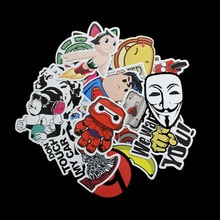 50pcs No Repeat Cartoon Cool Sticker Bomb Waterproof Graffiti Doodle Sticker Skateboard Decal Toy Sticker Hellaflush