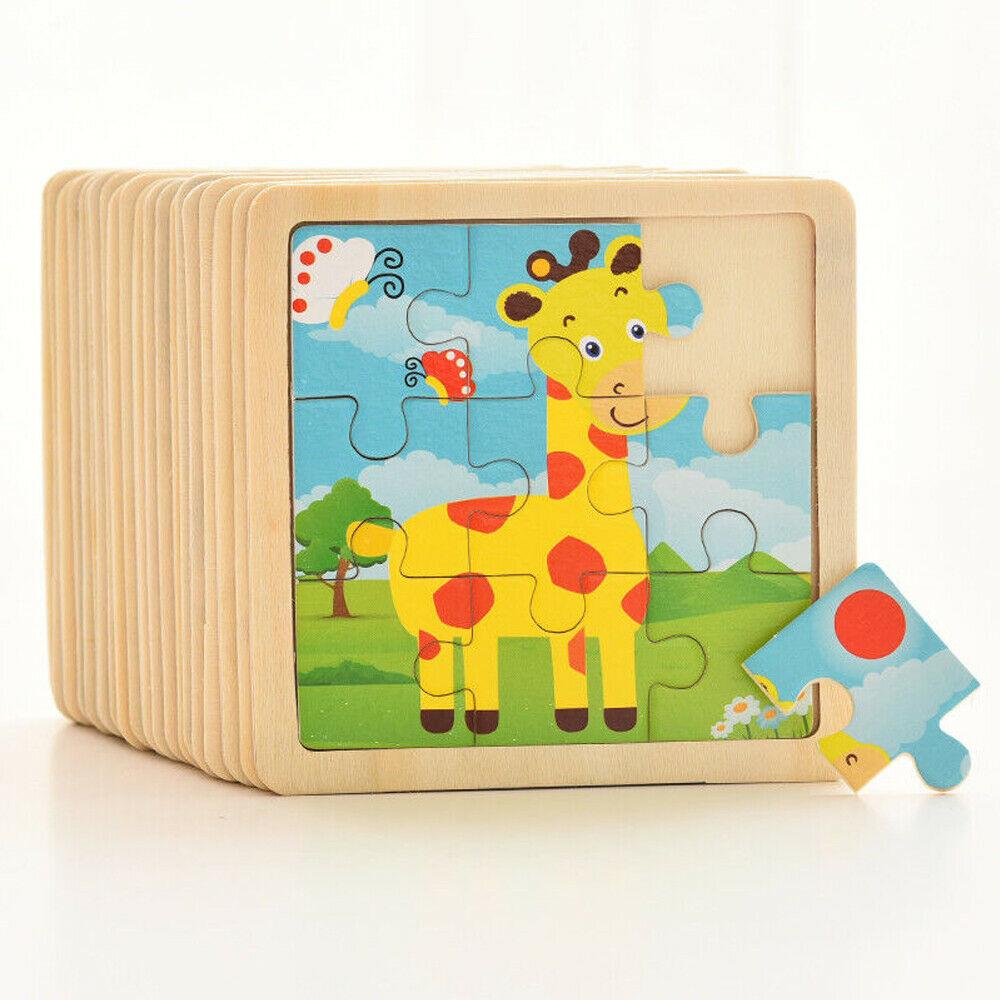 Деревянные пазлы, 9 шт., для раннего развития, для детей