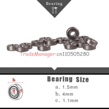 Free delivery 10PCS Miniature Radial Ball Bearings Brand new imported bearings 1.5x4x1.1mm for RC Ca