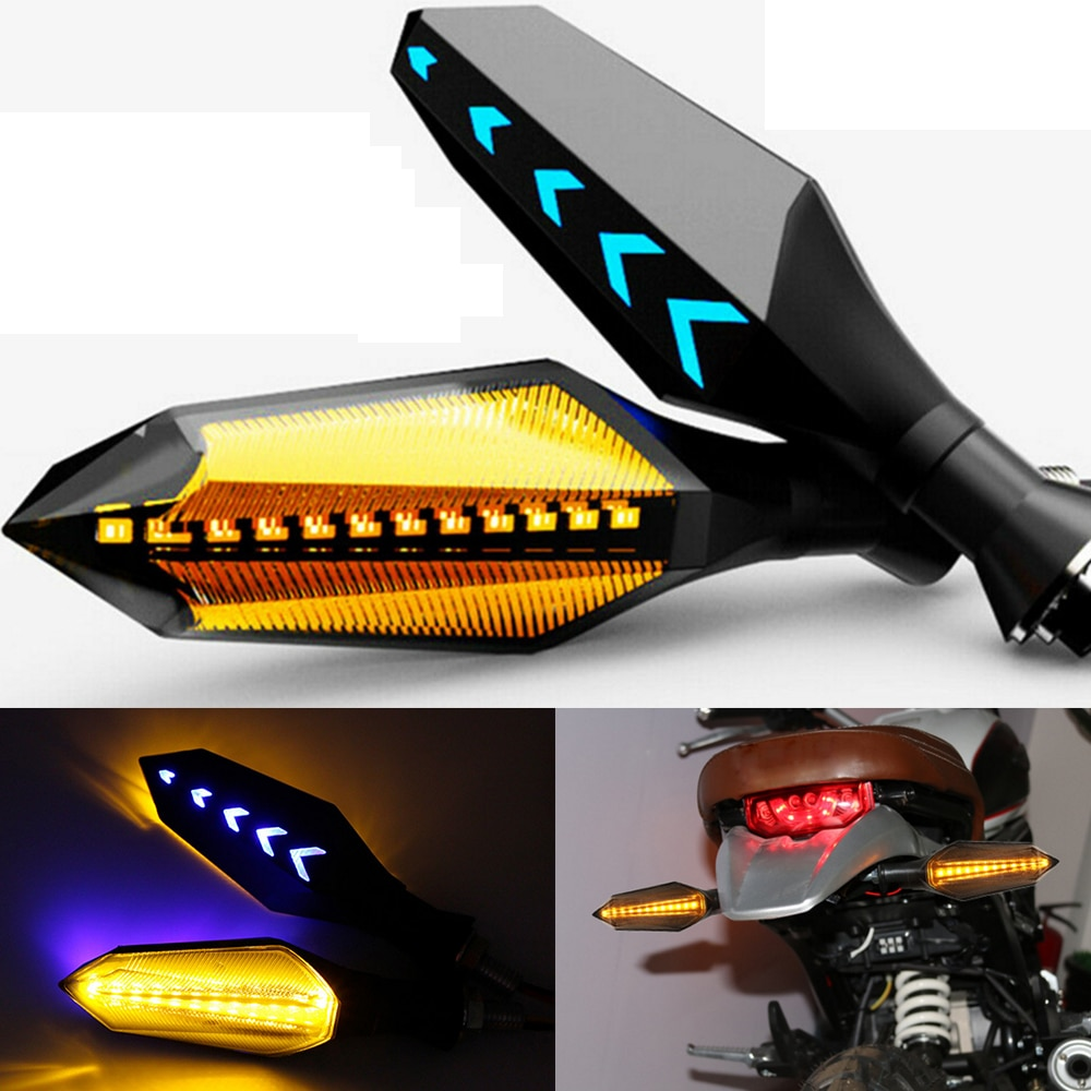 2 pçs 12 v universal motocicleta led turn signal lâmpada de freio pisca luz para kawasaki z1000 z900 z800 ninja 400 650 250r z400