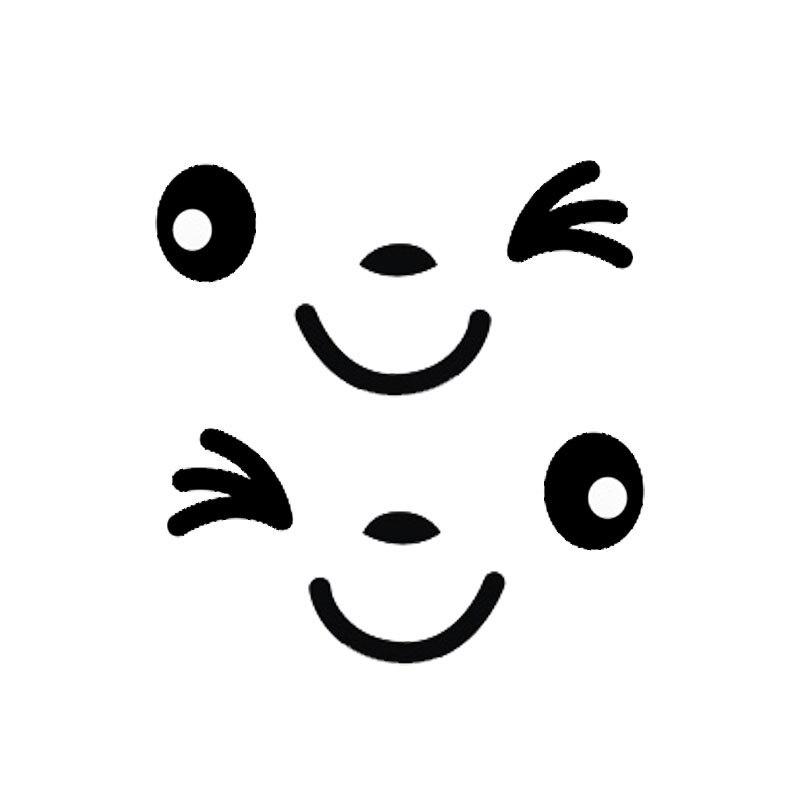 2 uds. Pegatinas reflectantes creativas con cara sonriente para coche pegatinas divertidas para coche pegatinas para espejo retrovisor CT-577