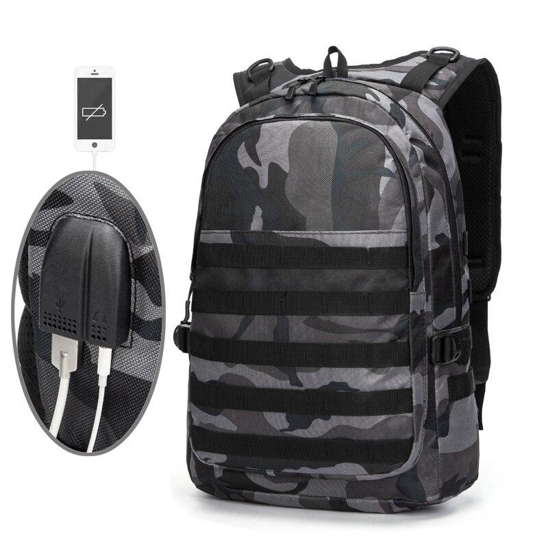 PUBG Mochila De Laptop para hombres bolsa de padre-hijo mochila niños bolsa de paquete estudiante mochila camuflaje recorrido de la lona mochila