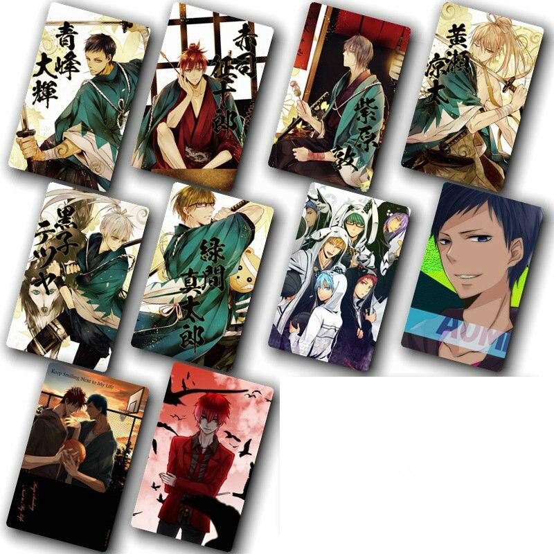Kuroko, paquete de pegatinas para cartas de Anime sin baloncesto, Cartas a prueba de agua DIY, pegatinas clásicas para niños, juguetes para niños, 100 Uds.