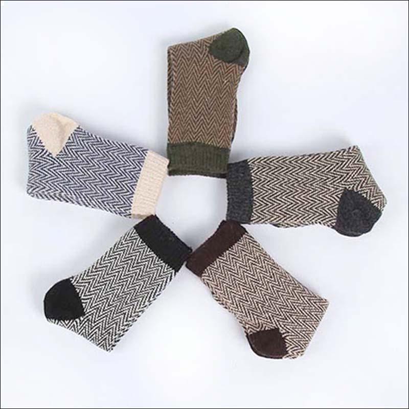 Nuevos calcetines térmicos de Cachemira para invierno, calcetines de lana de conejo abrigados para hombre, calcetines gruesos de 5 par/lote envío gratis
