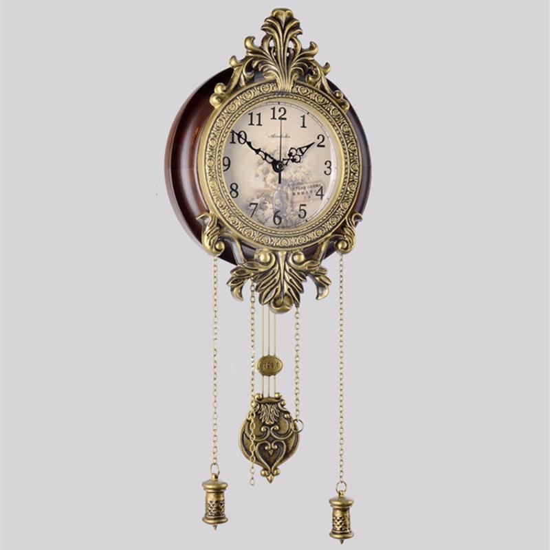 No.5369 Reloj de pared Retro, regalo de cumpleaños de boda a la moda, reloj colgante silencioso antiguo europeo, reloj colgante Digital de cuarzo para decoración del hogar