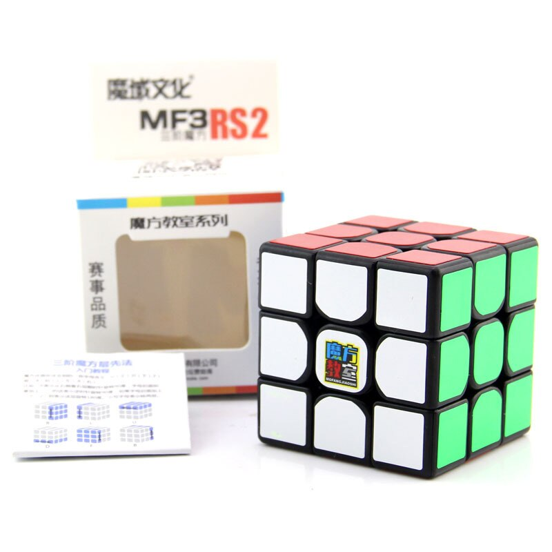 Mofangjiaoshi MFJS Cubing classle MF3RS2 puzle Toy 3x3x3 cubo mágico para principiantes cubo negro sin pegatinas