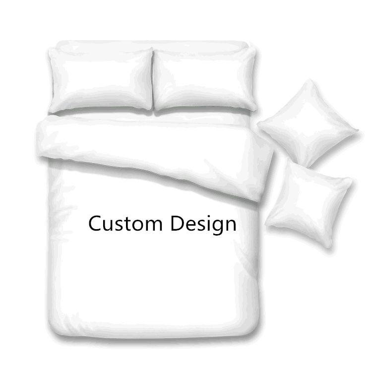 مخصصة تصميم الفراش مجموعات غطاء لحاف + وسادة لحاف غطاء السرير الكتان ورقة المفرش الملكة الملك حجم مخصص 1/3 قطعة