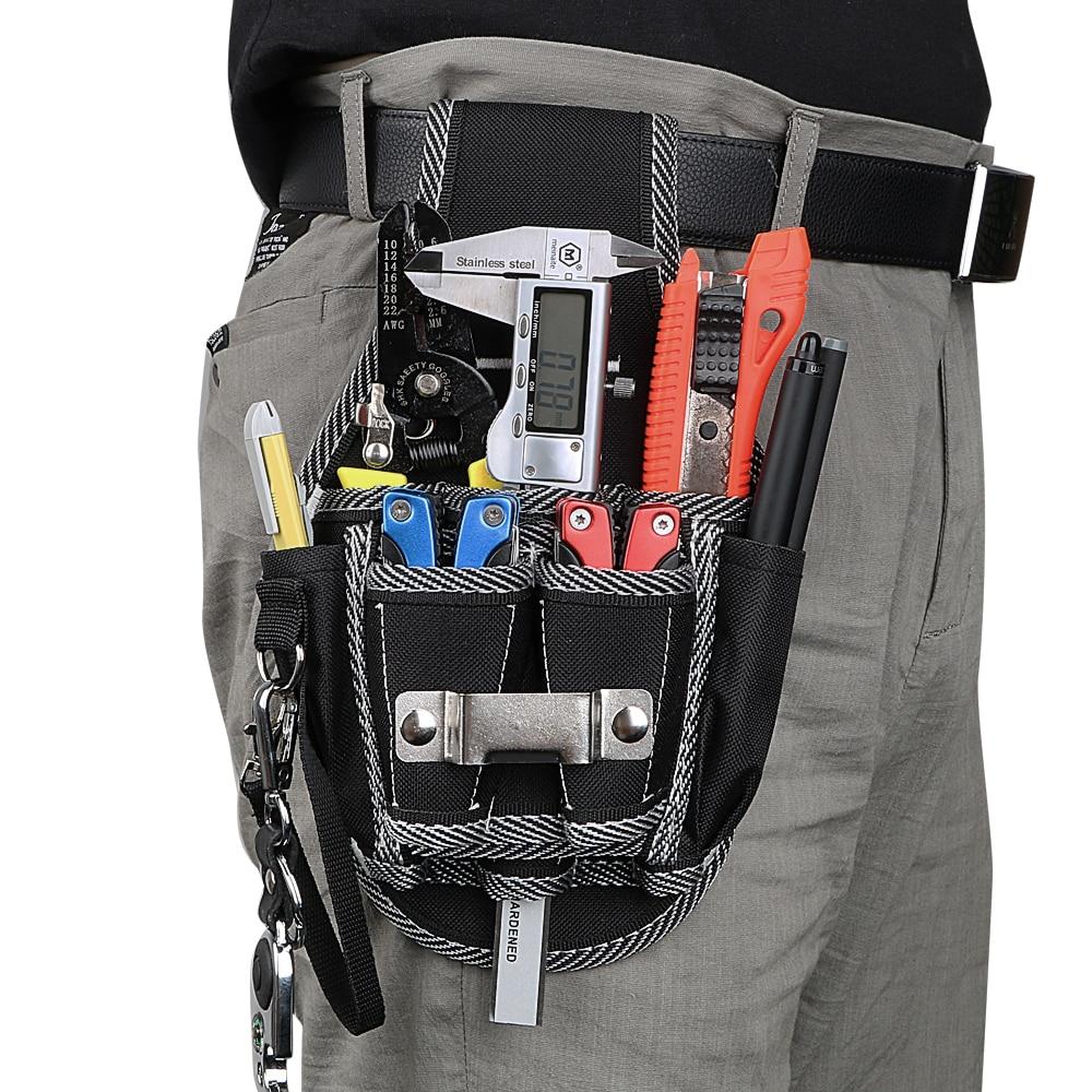 DIYWORK Drill Screwdriver Utility Kit Holder Carpenter Tool Bag Drill Hammer Storage Waist Pocket Tool Belt Pouch Bag